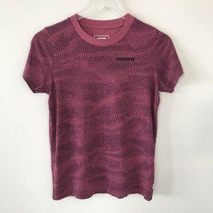Converse Classic Fit Tee Shirt Burgundy XS